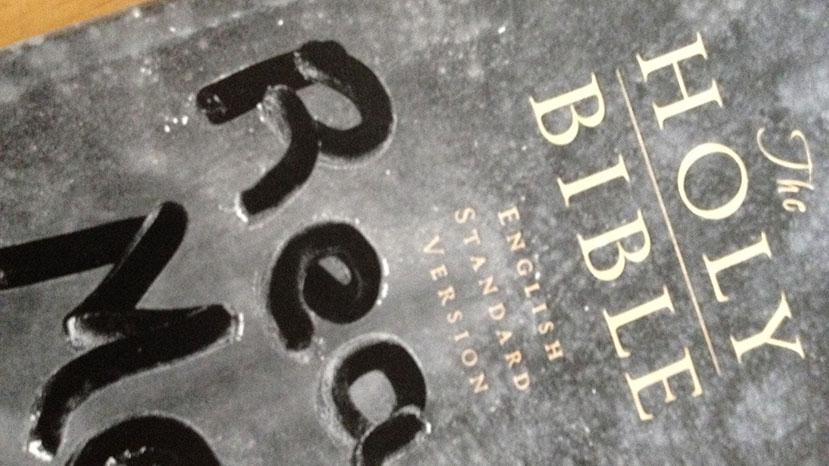 Dusty Bible - Read me written on front