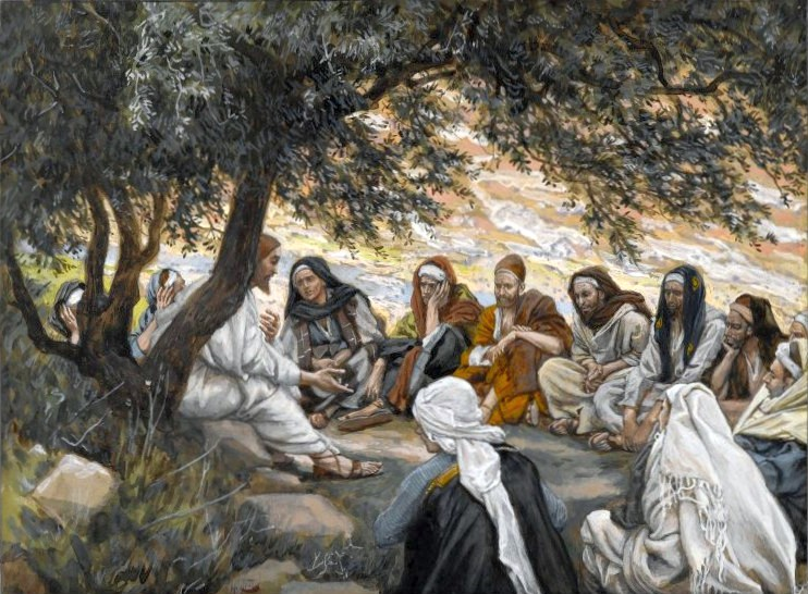 apostles listening to jesus